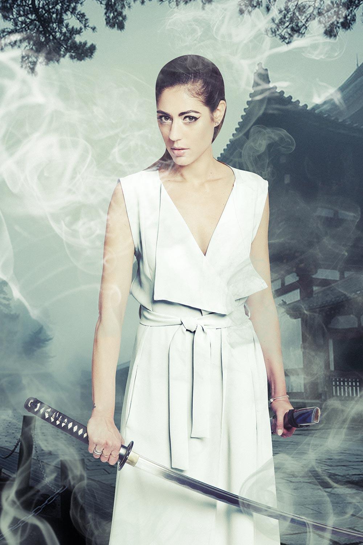 """Photo de Nalya utilisée pour la chanson """"Combattantes"""" de l'album """"La folie des candeurs"""""""