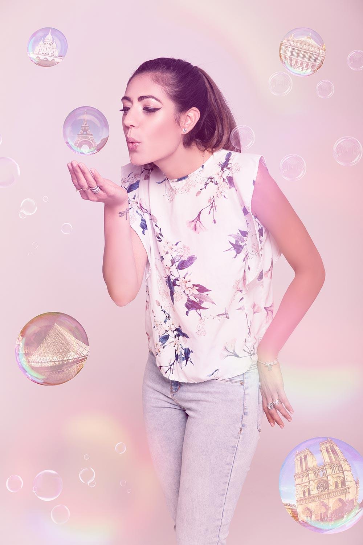 """Photo de Nalya utilisée pour la chanson """"Vide"""" de l'album """"La folie des candeurs"""""""